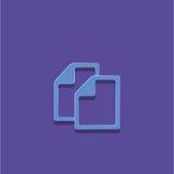 Illustration för vektor för dokumentsymbol Arkivfoto