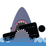Illustration för vektor för hajsymbolsfärg Arkivbilder