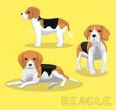 Illustration för vektor för hundbeagletecknad film Arkivfoto