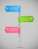 Illustration för vektor för Infographic affärsmall Royaltyfri Fotografi