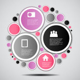 Illustration för vektor för Infographic affärsmall Royaltyfri Foto
