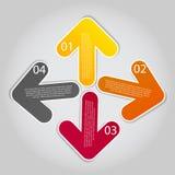Illustration för vektor för Infographic affärsmall Royaltyfri Bild
