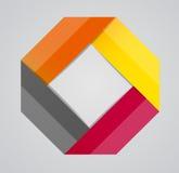 Illustration för vektor för Infographic affärsmall Arkivfoton