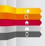 Illustration för vektor för Infographic affärsmall Arkivbilder