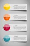 Illustration för vektor för Infographic affärsmall Arkivbild