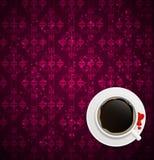 Illustration för vektor för kaffeinbjudanbakgrund vektor illustrationer
