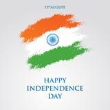 Illustration för vektor för kort för Indien självständighetsdagenhälsning 15th august självständighetsdagen Royaltyfria Foton
