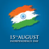 Illustration för vektor för kort för Indien självständighetsdagenhälsning 15th august självständighetsdagen Royaltyfri Bild