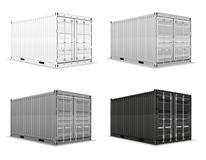 Illustration för vektor för lastbehållare Arkivbilder