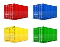 Illustration för vektor för lastbehållare Royaltyfri Foto