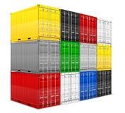 Illustration för vektor för lastbehållare Arkivfoto