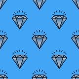 Illustration för vektor för smycken för traditionell briljant för modelldiamant för smycken sömlös för lyx minut för bot dyrbar g Royaltyfri Fotografi