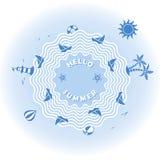 Illustration för vektor för sommarferie Arkivfoton