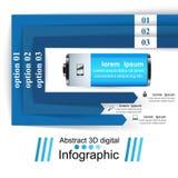 Illustration för vektor för stil för affärsInfographics origami _ Arkivbilder