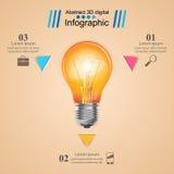 Illustration för vektor för stil för affärsInfographics origami Kula ic Arkivfoton