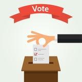 Illustration för vektor för stil för röstningbegreppslägenhet Arkivfoton