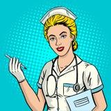 Illustration för vektor för stil för sjuksköterskapopkonst royaltyfri illustrationer