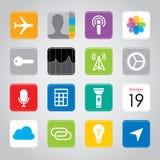 Illustration för vektor för symbol för knapp för applikation för smart telefon för pekskärm mobil stock illustrationer