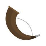 Illustration för vektor för trumpet för ljud för musikinstrument för stolpehorn stock illustrationer
