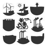 Illustration för vektor för uppsättning för källa för alternativ energi Royaltyfria Foton
