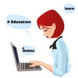 Illustration för vektor för utbildningslogouppsättning arkivfoto