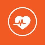Illustration för vektor för vård- symbol för hjärta enkel Arkivbild