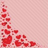 Illustration för vektor för valentindaghjärta i olika färger bakgrund tapet, inbjudanferiekort Royaltyfri Fotografi