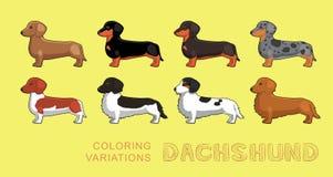 Illustration för vektor för variationer för hundtaxfärgläggning Arkivfoton