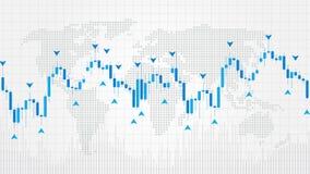 Illustration för vektor för Forexhandelindikatorer på svart bakgrund Arkivbild