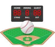 Illustration för vektor för funktionskort för baseballsportar digital Royaltyfri Fotografi