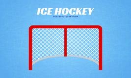 Illustration för vektor för hockeymålstolpar Bakgrund för vintersportar Ishockeyportdesign Plan stil vektor illustrationer