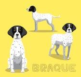 Illustration för vektor för hundBraque tecknad film Royaltyfri Bild