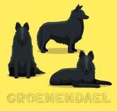 Illustration för vektor för hundGroenendael tecknad film Royaltyfria Foton