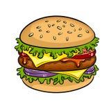 Illustration för vektor för konst för hamburgaresmörgåspop Royaltyfri Fotografi