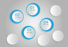 illustration för vektor för mall för design för alternativ för information om 3 D grafisk stock illustrationer