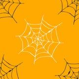 Illustration för vektor för modell för spindelrengöringsduk sömlös Den drog handen skissade rengöringsdukbakgrund stock illustrationer