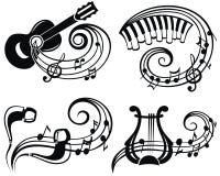 Illustration för vektor för musiksymbol för din design stock illustrationer