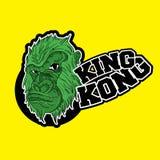 Illustration för vektor för primat för Gorilla King kongapa royaltyfri illustrationer