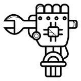 Illustration för vektor för symbol för konstruktionsrobot stock illustrationer