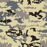 Illustration för vektor för trendig kamouflagemodell sömlös Millatry tryck texturen av kläderna förklädnaden av en jägare stock illustrationer