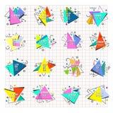 Illustration för vektor för triangulum för abstrakt för geometritriangelabstrakt begrepp för logo för emblem polygon för mystiker stock illustrationer