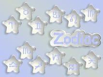 Illustration för vektor för zodiakteckentecknad film Royaltyfri Foto