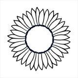 Illustration för vektorklottersolros Royaltyfria Bilder