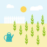 Illustration för vektorträdgårdlägenhet Royaltyfri Bild