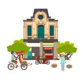 Illustration för Vietnam gatavektor royaltyfri illustrationer