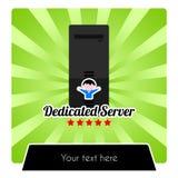 Illustration für engagierte Web-Hosting-Dienstleistungen Lizenzfreies Stockfoto