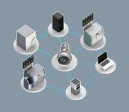 Illustration für intelligentes Fabrikkonzept Lizenzfreie Stockbilder