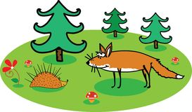 Illustration für Märchen Stockbild