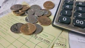 Illustration für Zahlungsempfangsberechnung Stockbild