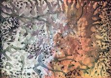 Illustration f?r abstrakt konst i ljusa pastellf?rgade f?rger stock illustrationer